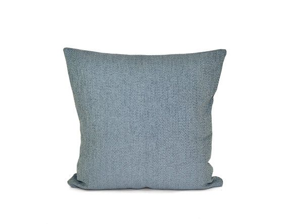 Teal Blue Herringbone Pillow Velvet Pillow Decorative By TMHstyle Inspiration Teal Decorative Bed Pillows