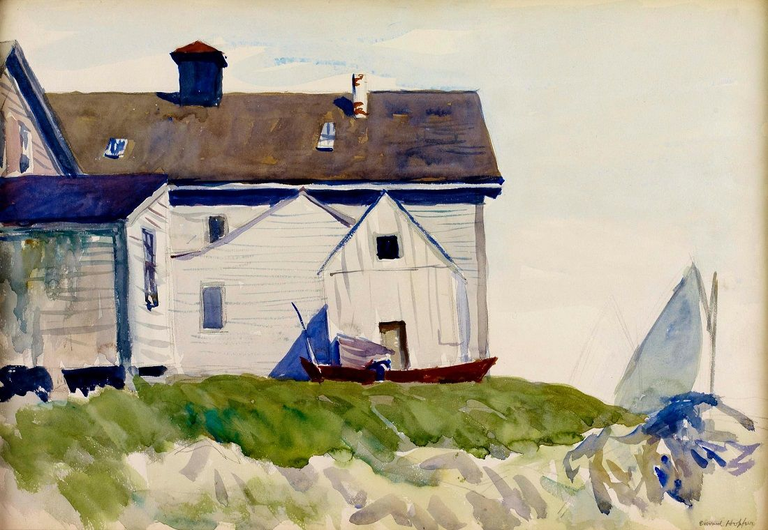 People painting houses - House And Boats Seaside House Edward Hopper 1923 American Watercolor On Paper X Cm Hunter Museum Of American Art Chattanooga