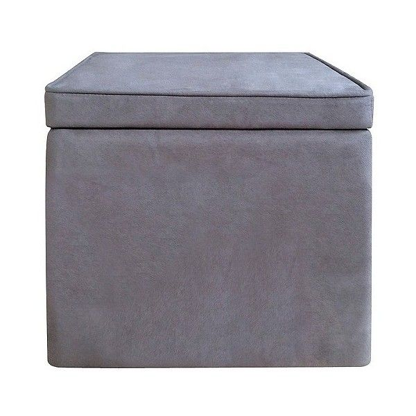 Storage Ottoman: Room Essentials Cube Storage Ottoman   Gray ($17) ❤ Liked  On