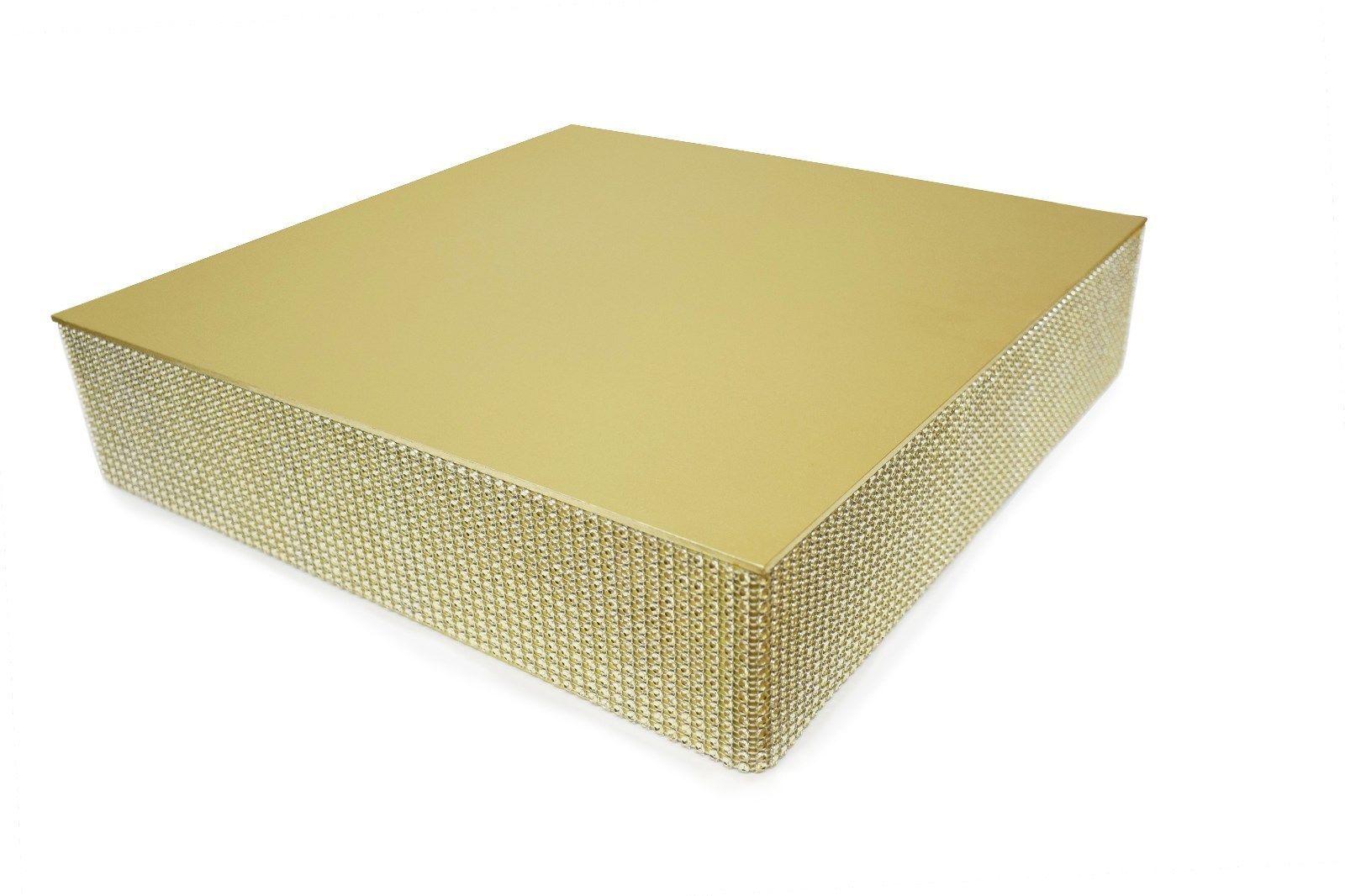 Square Round Wedding Cake Stand Silver Gold Rhinestone