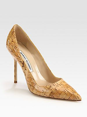 cheap outlet locations with paypal Manolo Blahnik BB Pointed-Toe Cork Pumps cheap sale eastbay shop for cheap online Rjq9ge