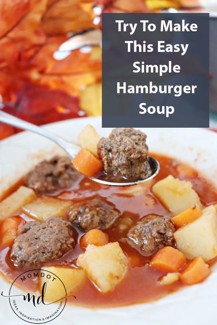 Simple Hamburger Soup images