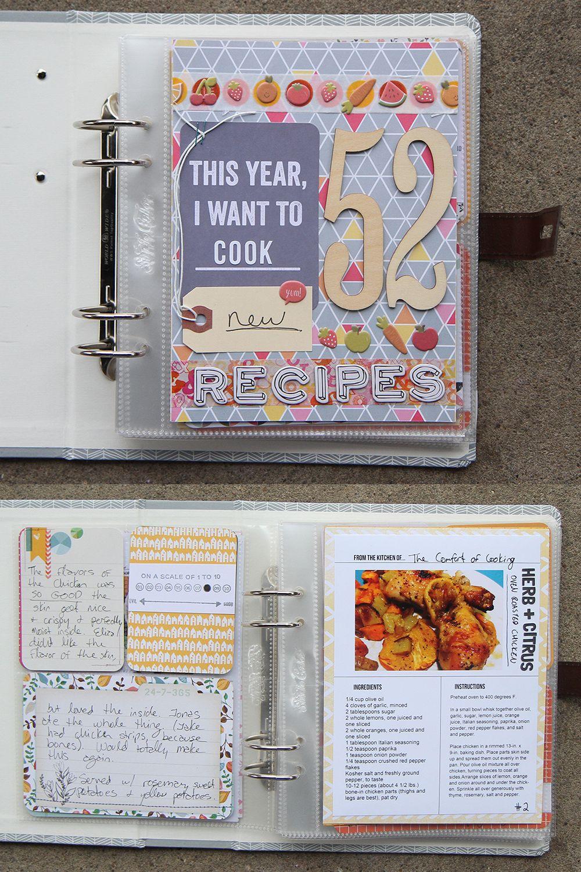 52 Recipes Book Thenerdnest Scrapbook Recipe Book Smash Book Recipe Book