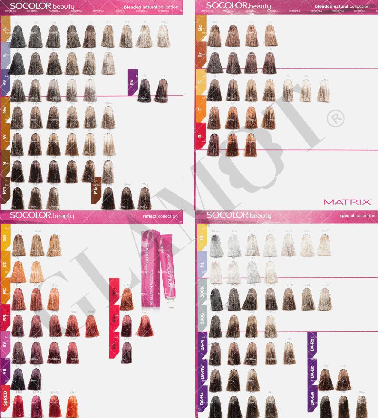 Paleta Matrix Color Sync Paleta Kolorow Farb Do Wlosow Matrix Hair Color Hair Color Formulas Matrix Color Chart
