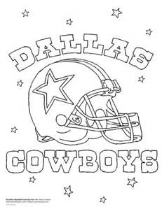 dallas cowboy coloring pages