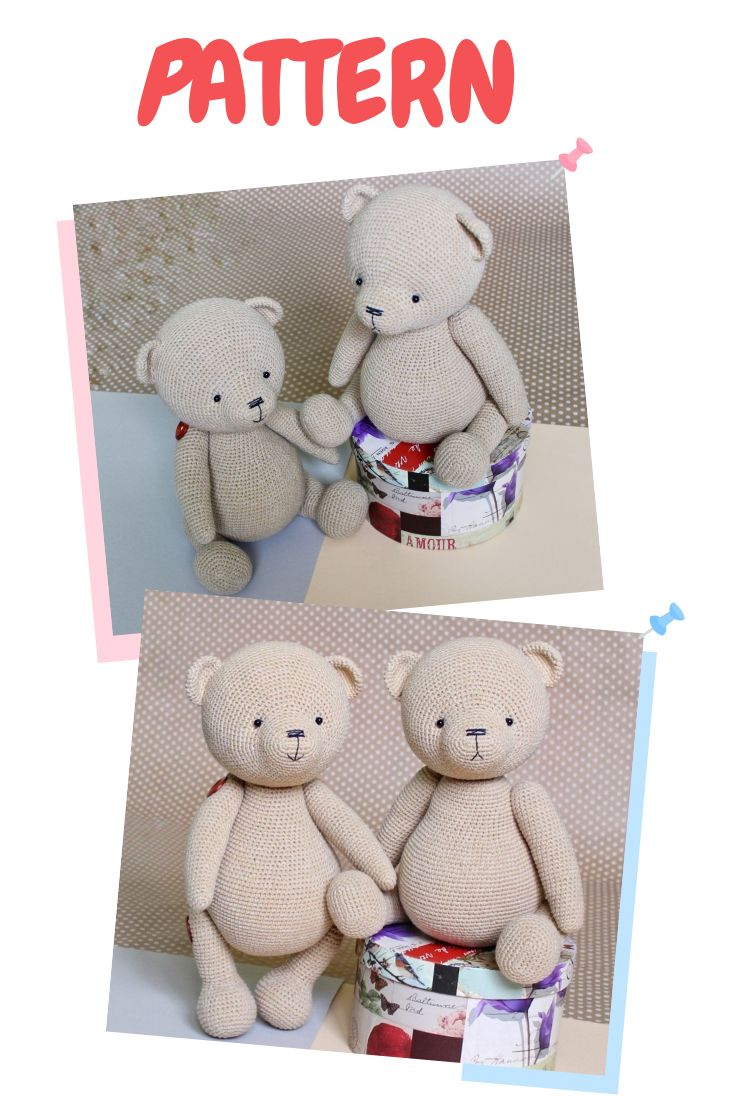 PATTERN Crochet Teddy bear/ PATTERN Amigurumi Teddy bear #crochetteddybears