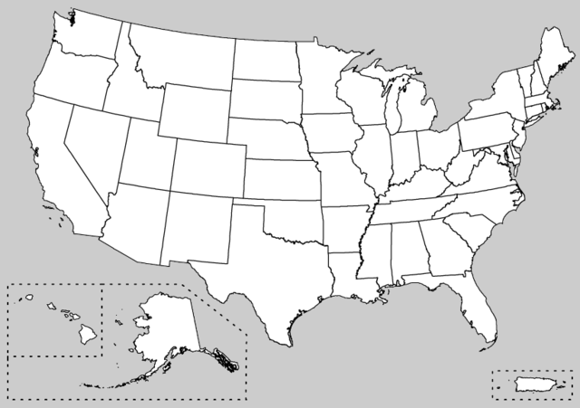 unlabeled us map - Google Search | Bulletin Boards | Pinterest | 50 ...