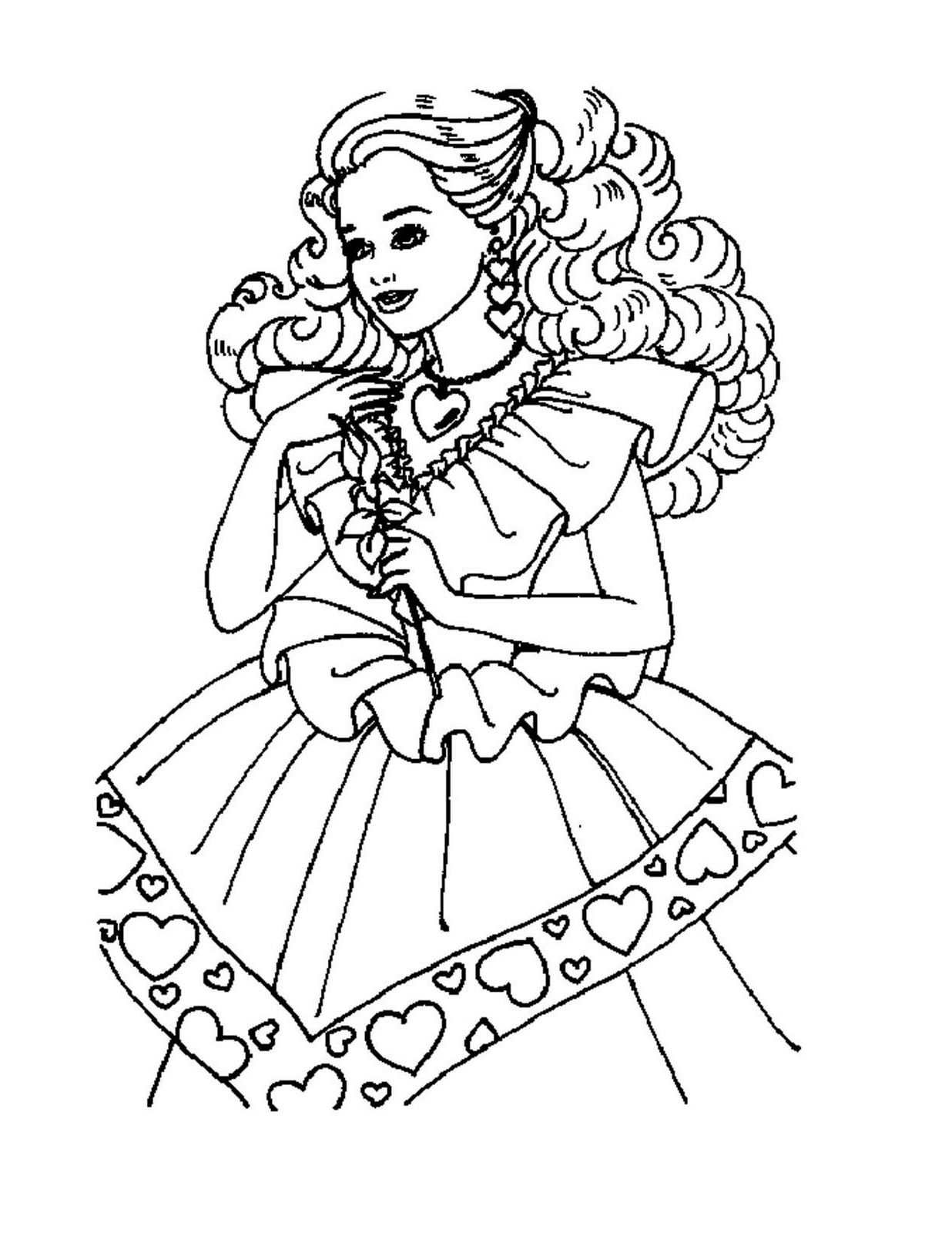 Free printable coloring pages barbie princess - Princess Barbie Coloring Pages