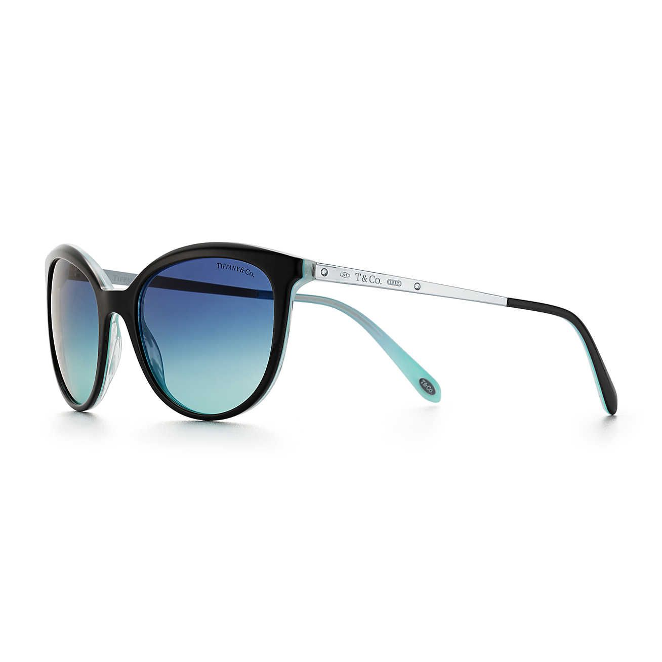 6c528ce30be0 Occhiali da sole Phantos Tiffany 1837™ in acetato colore nero e Tiffany  Blue®.