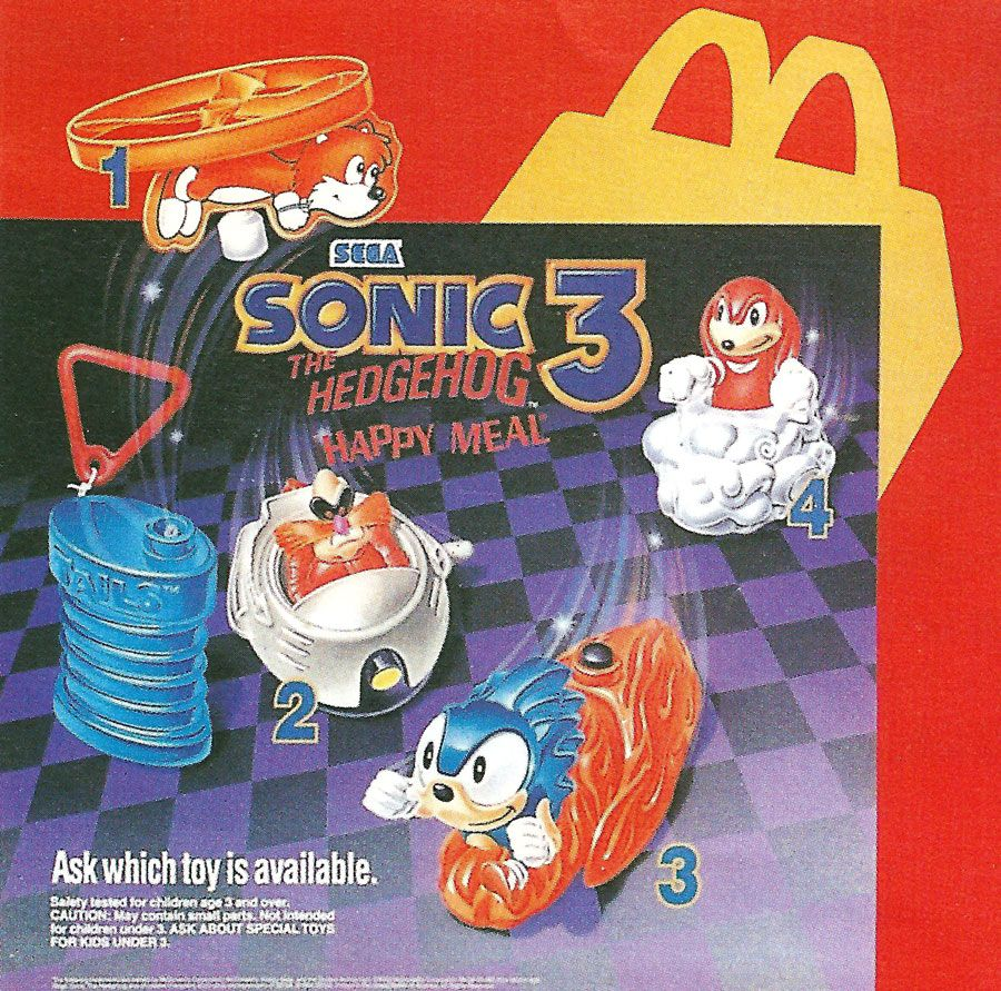 Sonic The Hedgehog 3 Mcdonalds Toys Us Ad Mcdonalds Toys Sonic