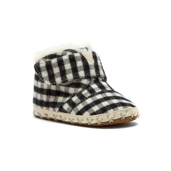 TOMS Cuna Crib Shoe Tiny Boots ($39) ❤ liked on Polyvore featuring ...