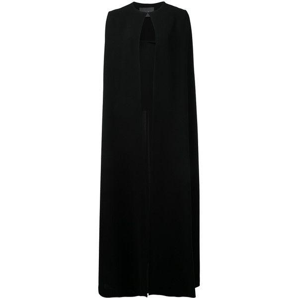 Black Floor Length Cape