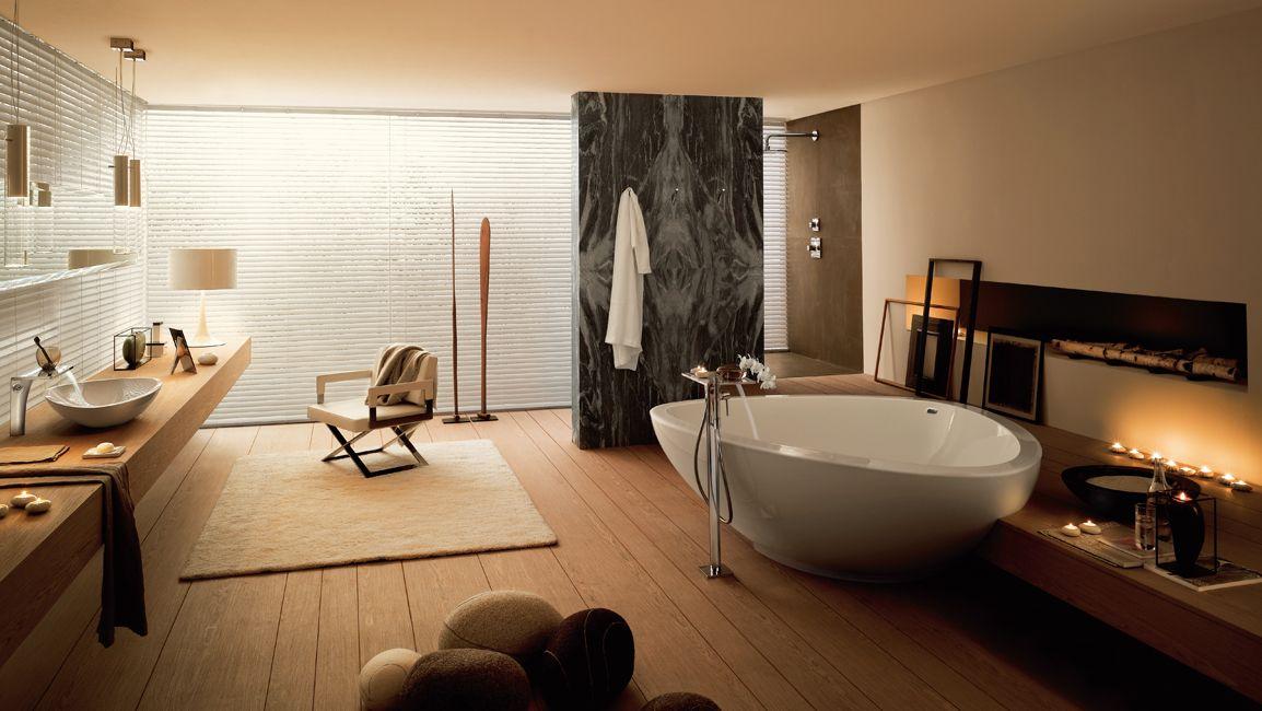 Ba o con ducha y ba era awesome interiors decoracion for Sala da bagno design