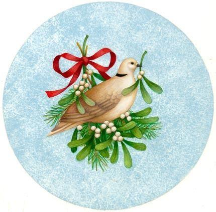 Dove christmas. Clip art clipart