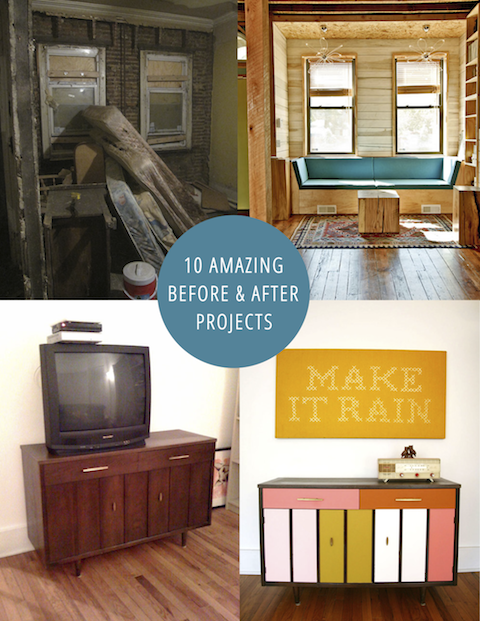 10 Amazing Before & After Projects #diy