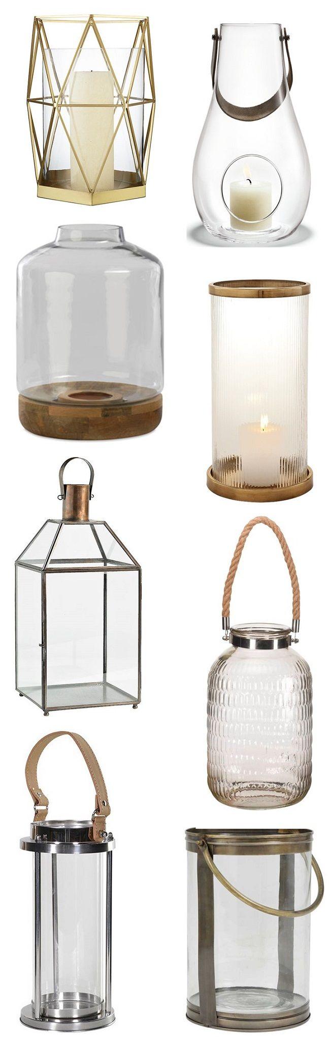 glass hurricane lanterns moodboard beautiful lights pinterest