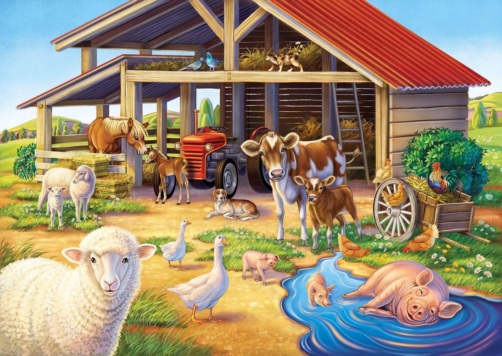 считают картинки разных пород с названиями животных фермы количество участников