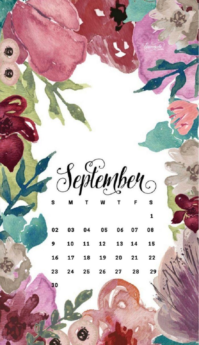 September 2018 iPhone Calendar Wallpapers Calendar