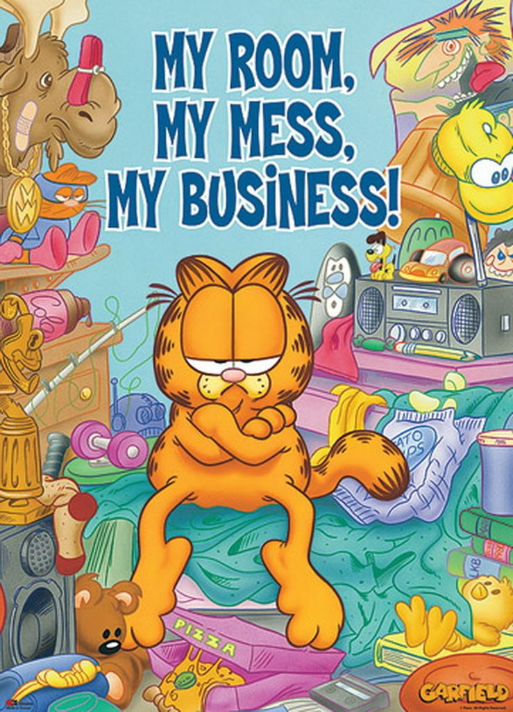 My Room My Mess My Business Garfield Cartoon Garfield And Odie Cat Quotes Funny