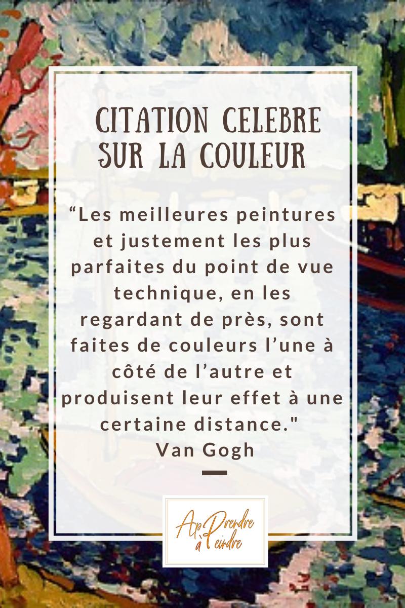 Couleurs Juxtaposees Cours De Peinture Peinture Debutant Citation Couleur