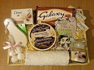 Womens Luxury Pamper Hamper Amp Chocolate Gift Basket