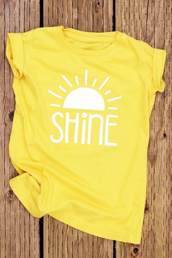 53794a0ab03f6e Shine Yellow Shirt Cute Shirts for Girls Girls by GaffrenGraphics Sun Shirt,  Summer T Shirts