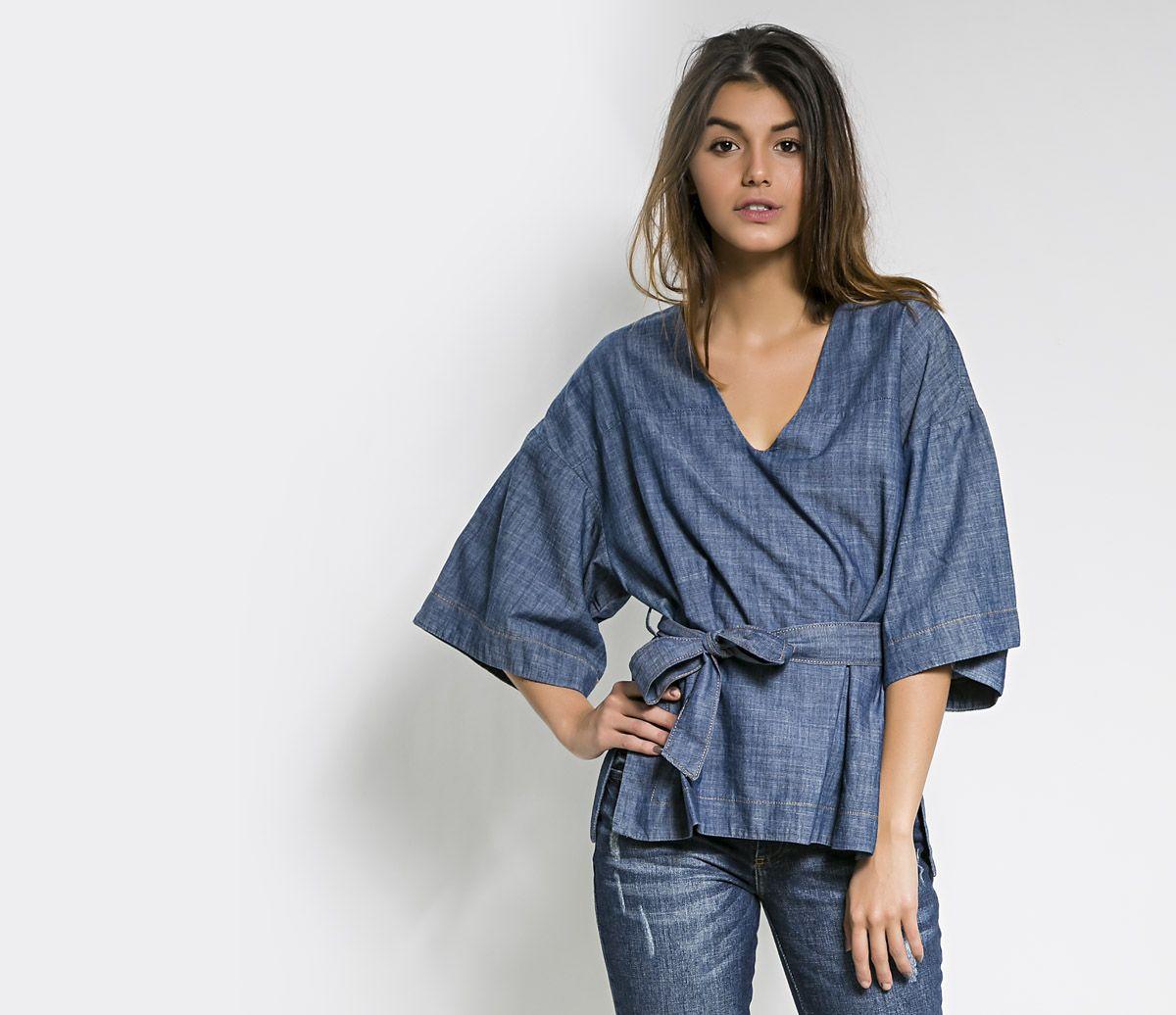 Resultado de imagem para kimono jeans