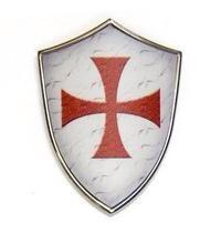 Ethan - Un bouclier que les chevaliers se rendrait pour la protection. En ce moment, les boucliers et les armures étaient la seule protection contre des flèches, des épées, des lances et des lances.