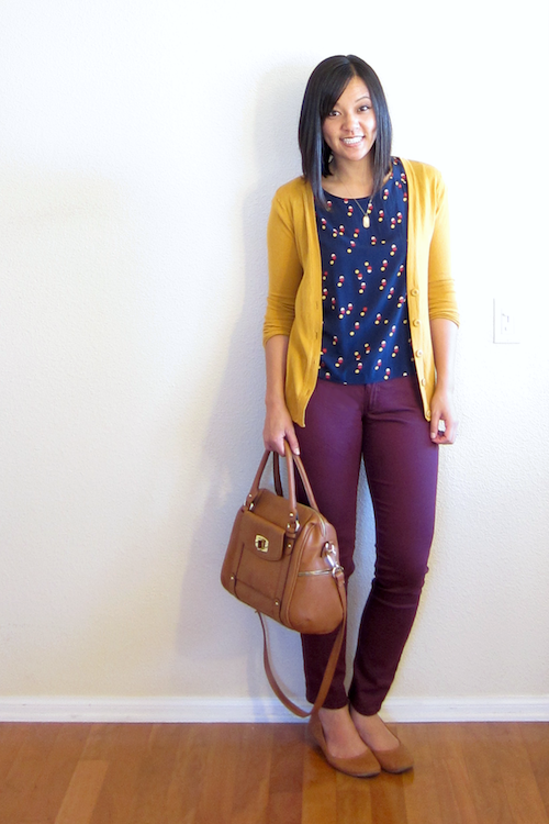 fe4c50d230 Putting Me Together  Mustard and Burgundy. This is a fantastic color combo  for Fall