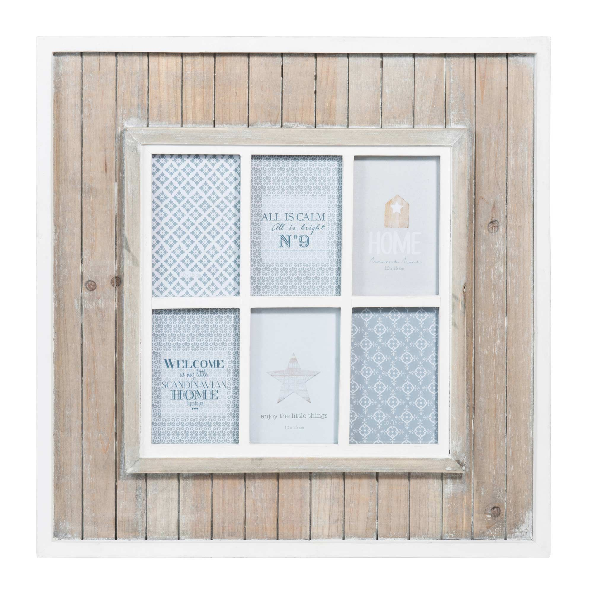 Marco de fotos ventana de madera 50 x 50 cm SNOW | wish list | Pinterest