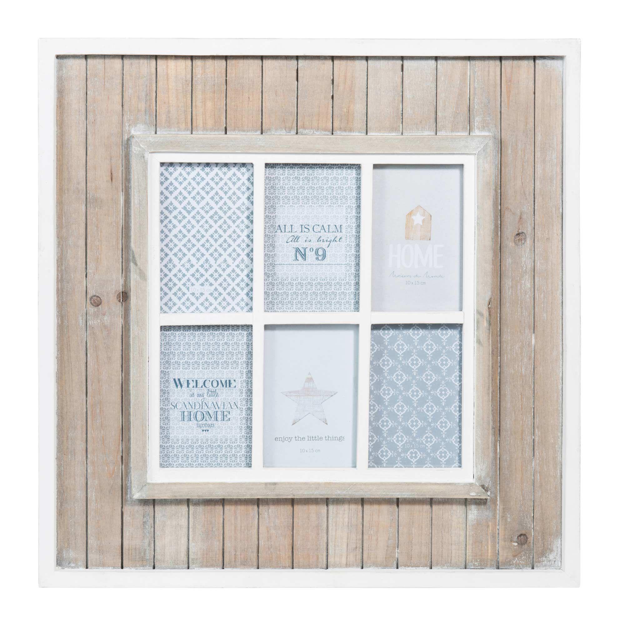 Marco de fotos ventana de madera 50 x 50 cm SNOW | wish list ...