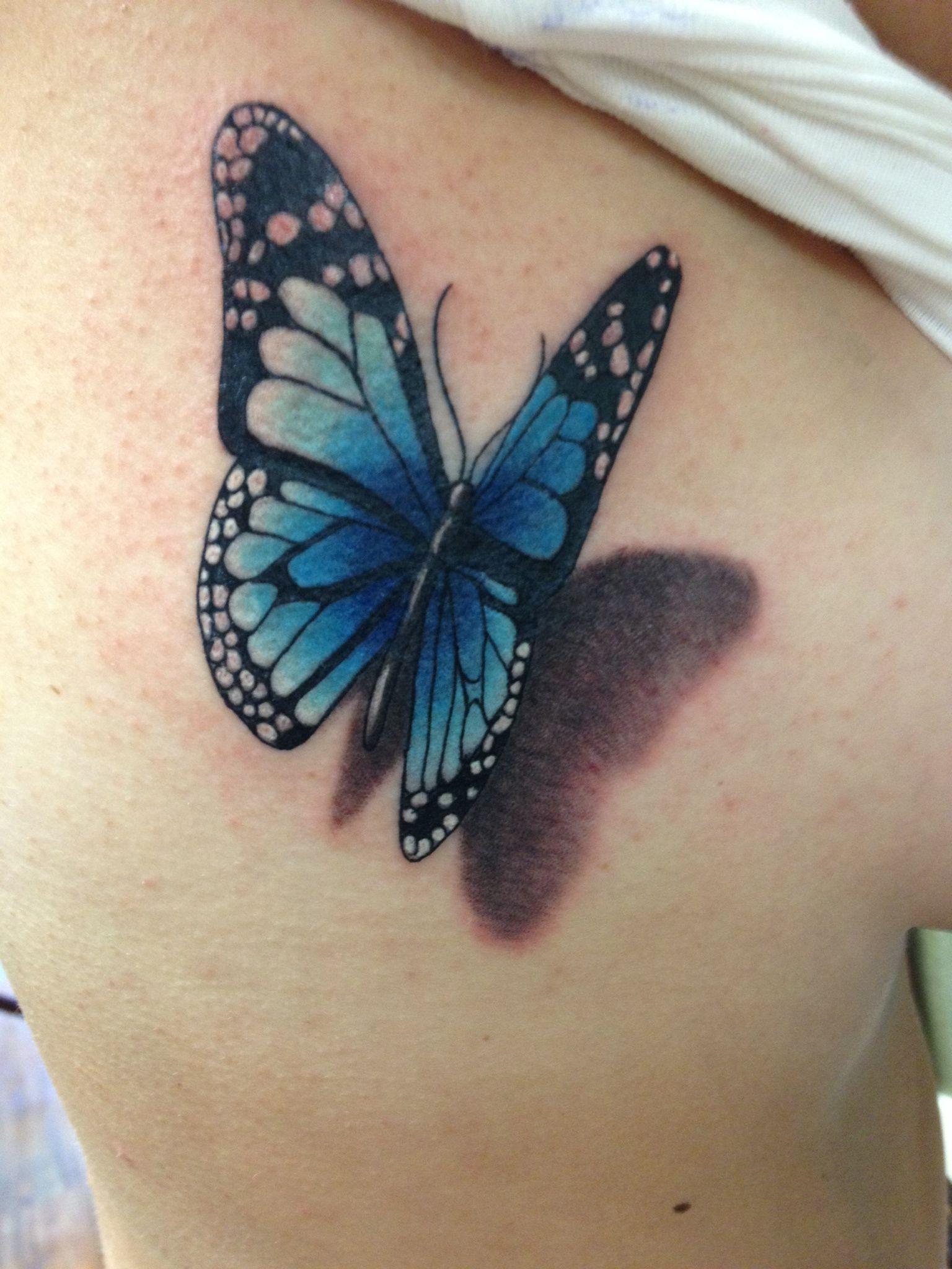 behind ear tattoo Google Search 3d butterfly tattoo