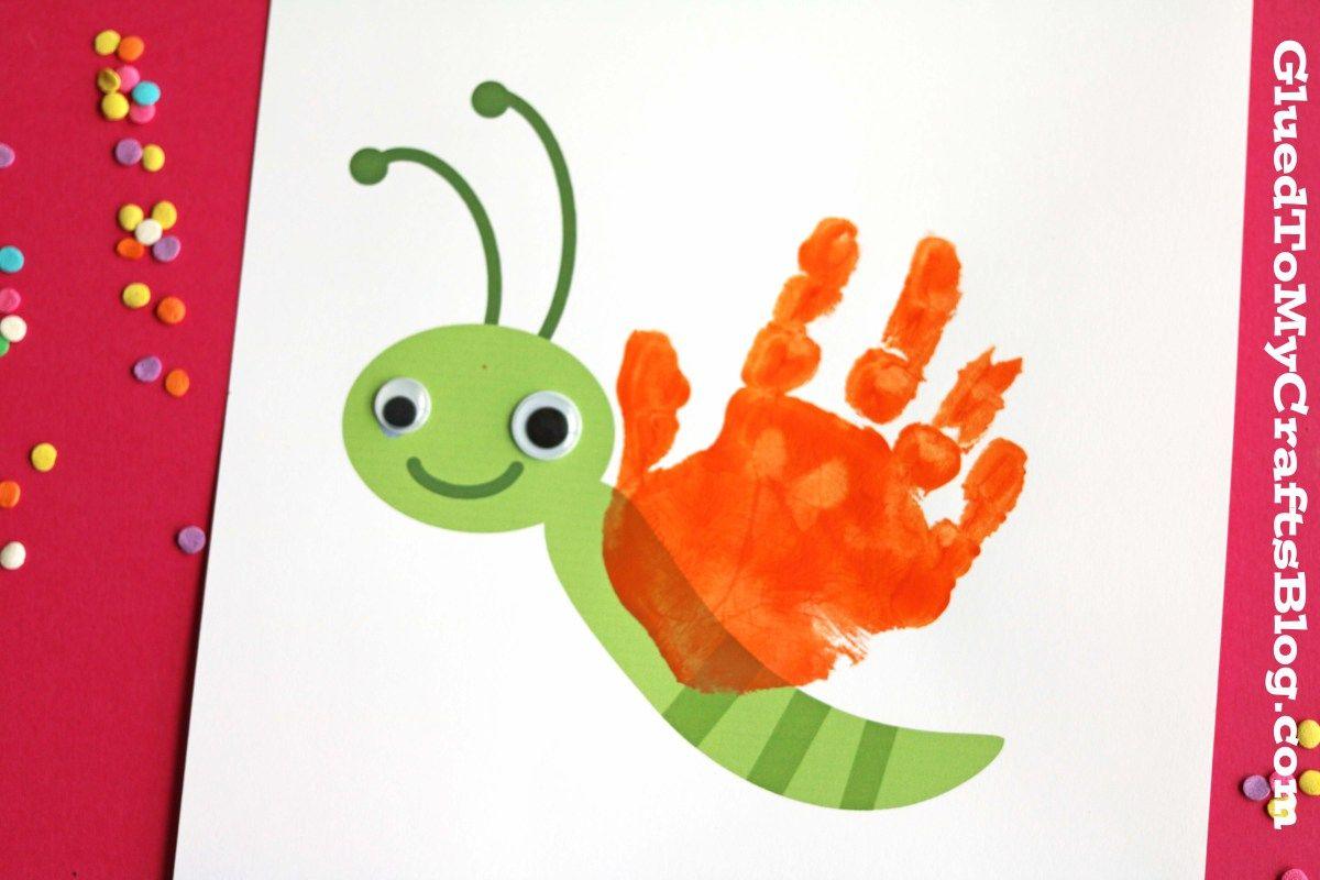 Handprint Butterfly Keepsake w/free printable