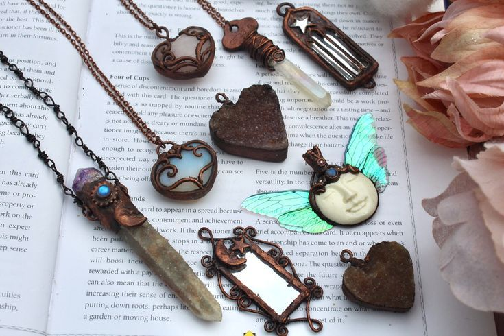 Electroformed Copper Crystal Jewelry from By Amillia  Heart Shaped Necklaces and Fairy Moon  Electroformed Copper Crystal Jewelry from By Amillia  Heart Shaped Necklaces...