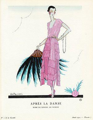 Apres la Danse by Alex Rzewuski Reg. Price: $125 Sale Price: $85 Gazette du Bon Ton Antique Fashion Prints 1912-1913