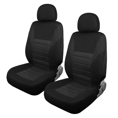 Outstanding Black Flat Colth Car Auto Suv Front Seat Cover W Headrest Caraccident5 Cool Chair Designs And Ideas Caraccident5Info