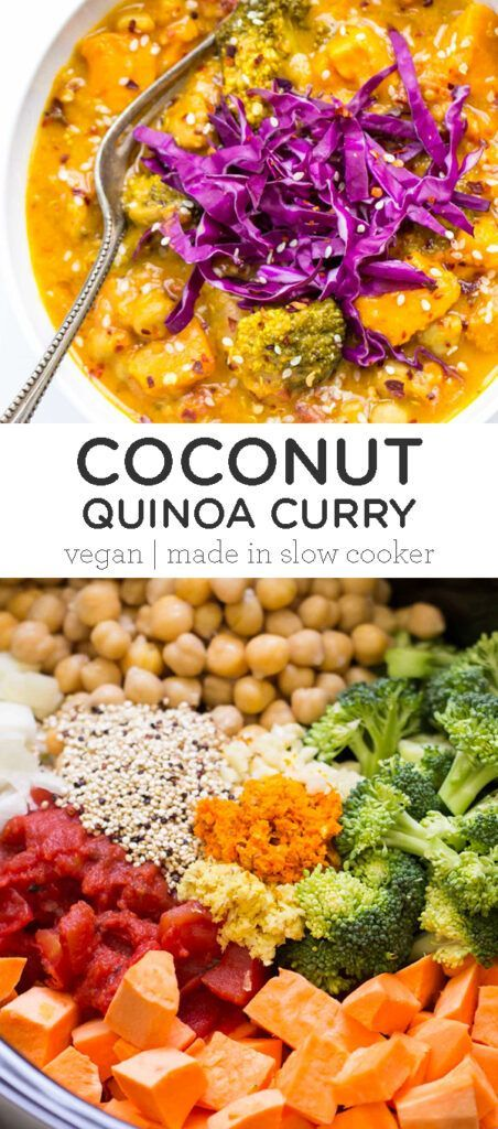Photo of Coconut Quinoa Curry Recipe | Made In The Slow Cooker – Simply Quinoa