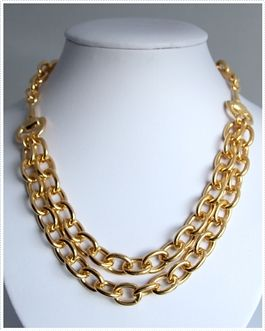 Privileged Horse bit Double Chain Necklace