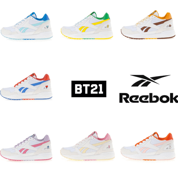 Official Reebok X Bt21 Royal Bridge 2 0 Sapatos Produtos Bts