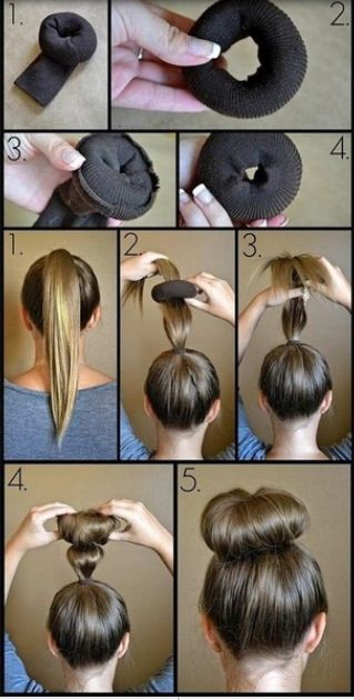 Pin by Adelyn on Hair and beauty | Bun hairstyles for long ...