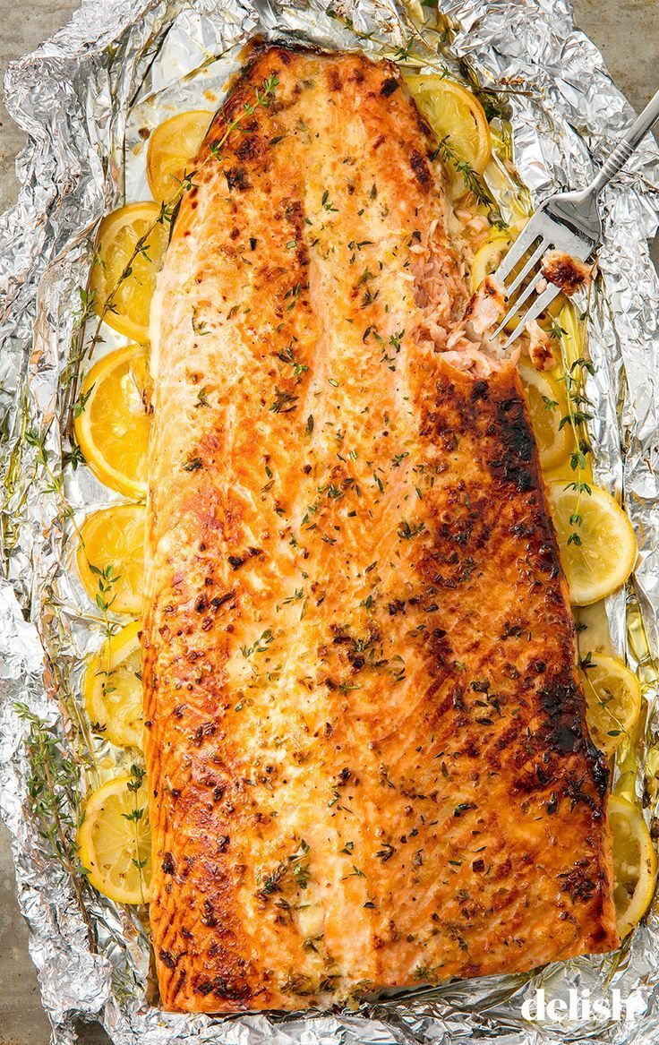 Baked Garlic-Butter Salmon -   18 salmon recipes ideas