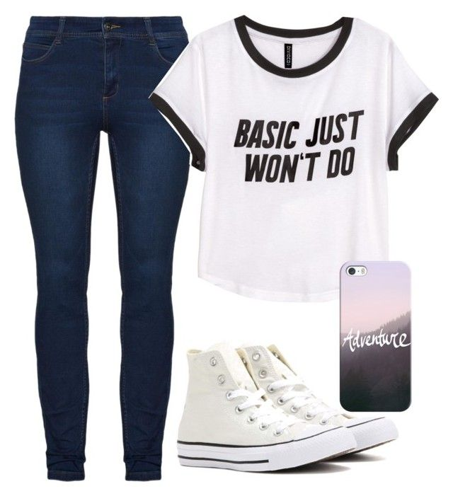 """""""LOL"""" by emmafetzer on Polyvore featuring H&M, Converse and Casetify"""