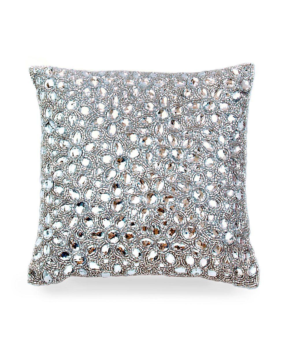 Jet Set Pillow By Casa Chic Silver Diamond Pillows Pillows