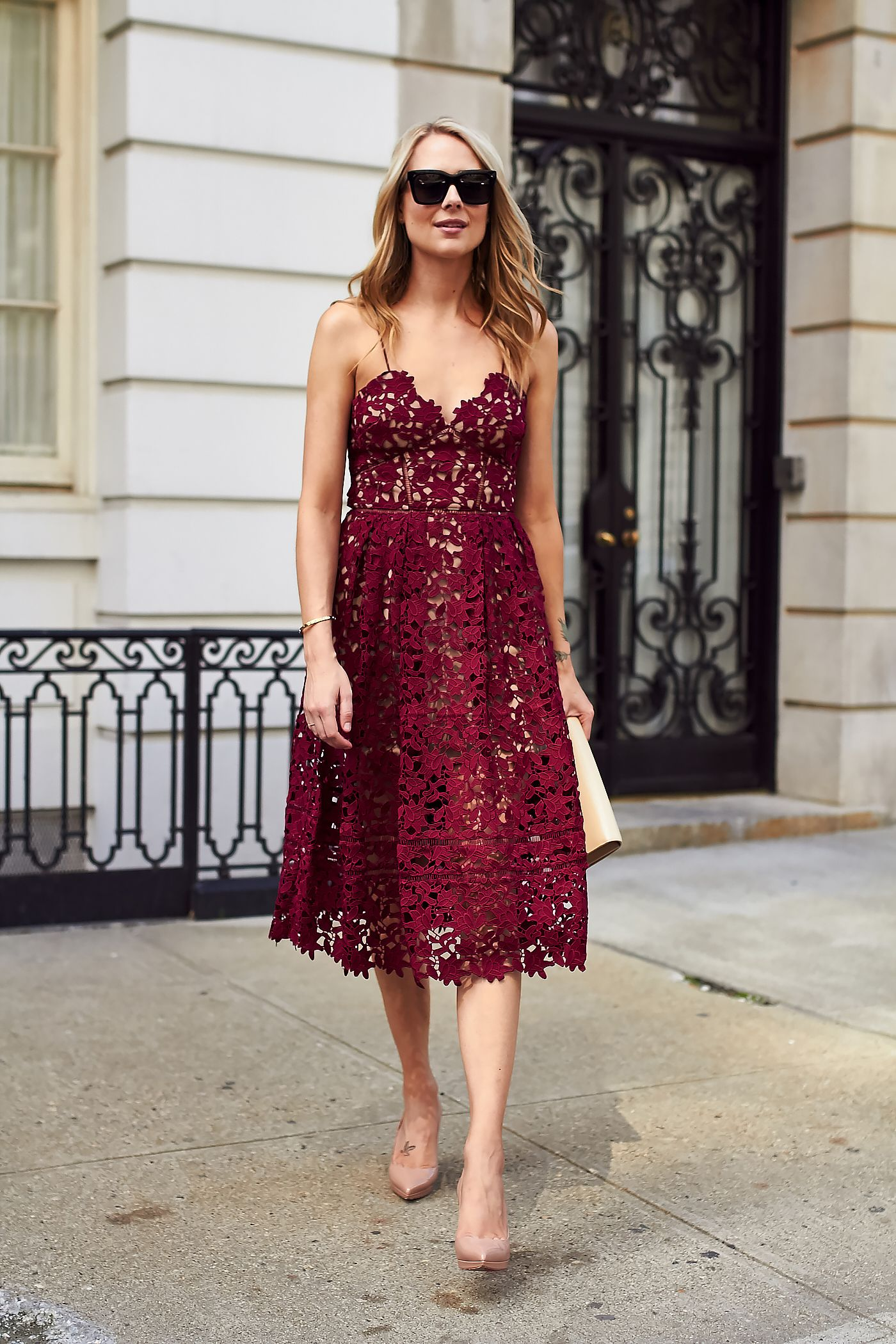 This Wine Hued Lace Midi Dress Is Stunning And Would Be The Perfect Holiday Party Dress Love This Feminine Style Dresses Fashion Fashion Jackson [ 2100 x 1400 Pixel ]