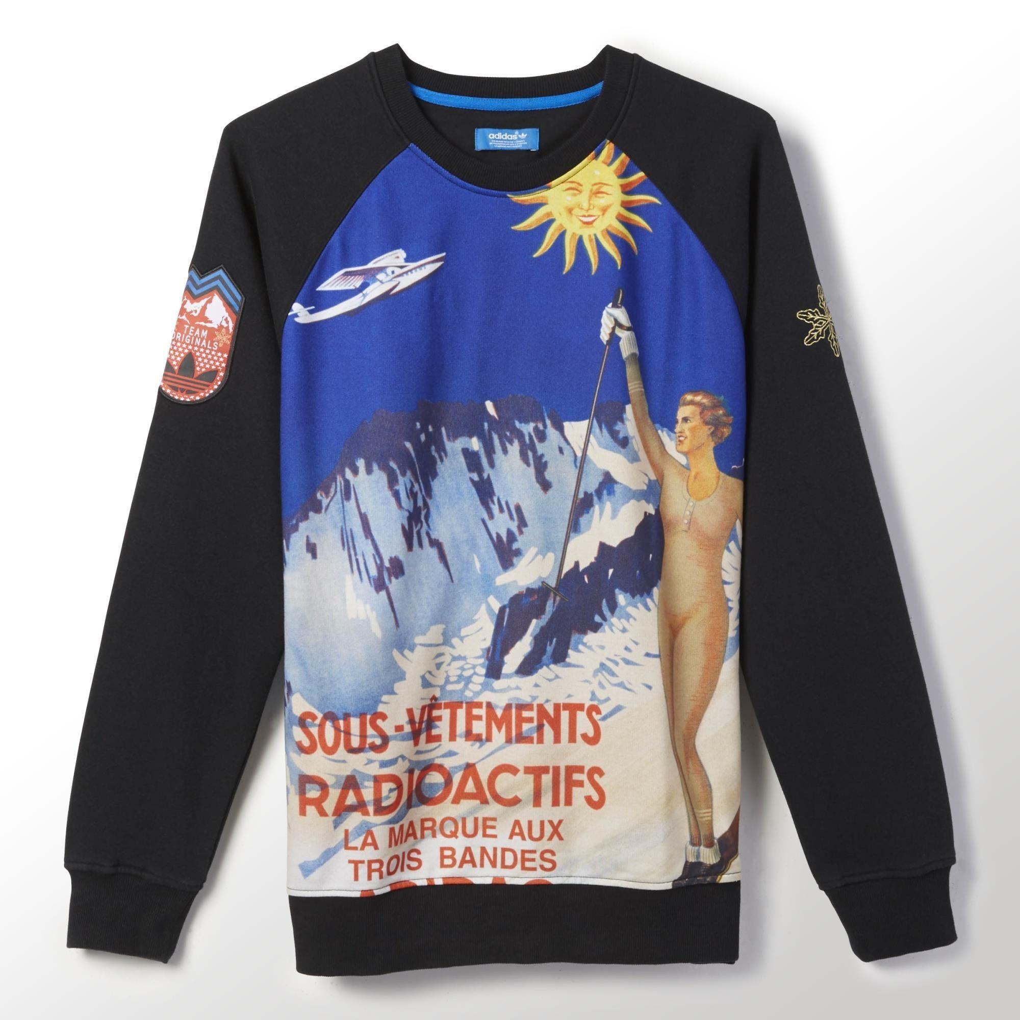 Adidas Radioactif Art Fleece Crew Sweatshirt Adidas Us Sweatshirts Crew Sweatshirts Fleece Sweatpants [ 2000 x 2000 Pixel ]
