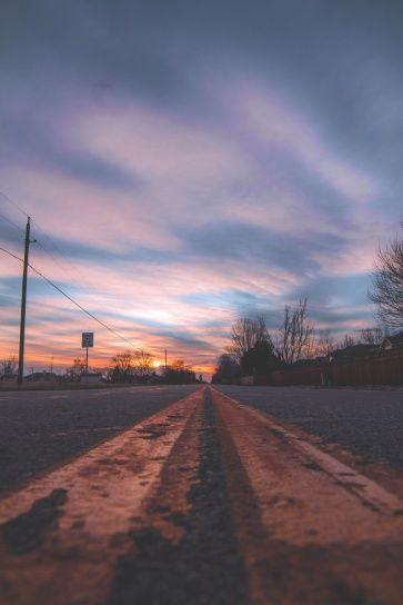 Nuages Route Ciel Coucher De Soleil Coucher De Soleil Ciel Ciel Nuages