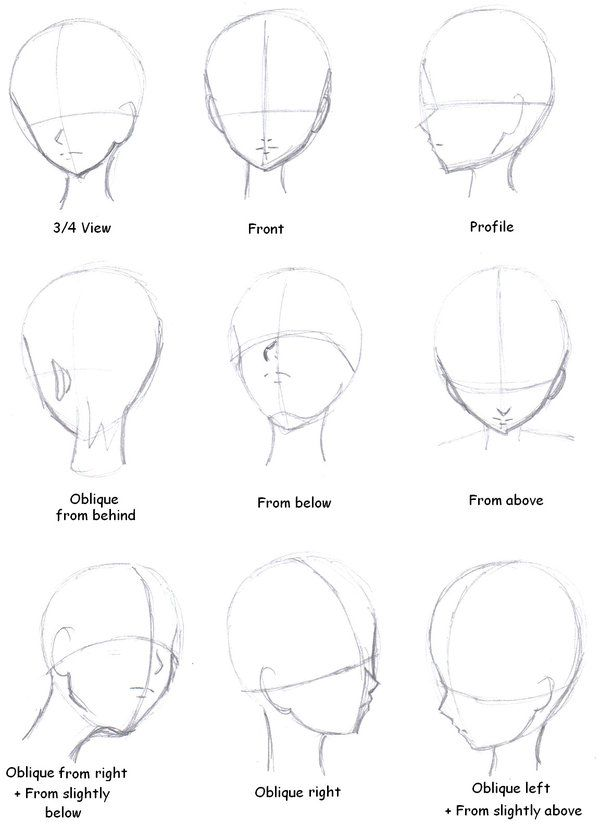 Manga Tutorial- Head face Direction by MermaidUnderSea deviantart