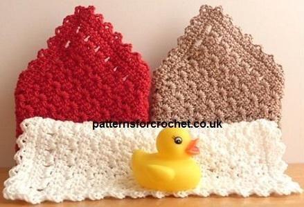 (4) Name: 'Crocheting : pfc24-Washcloth crochet pattern