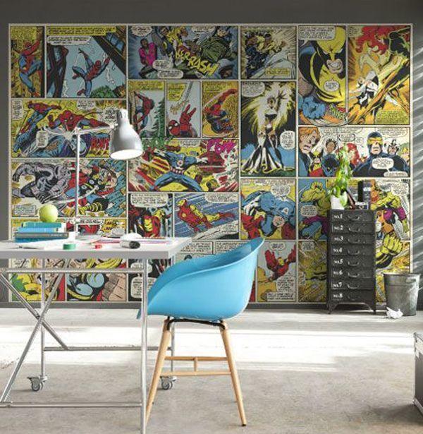 10 Best Marvel Avengers Wall Decor Ideas Home Design And Interior Superhero Wall Paper Den Habitacion Marvel Decoracion Moderna De Paredes Disenos De Unas