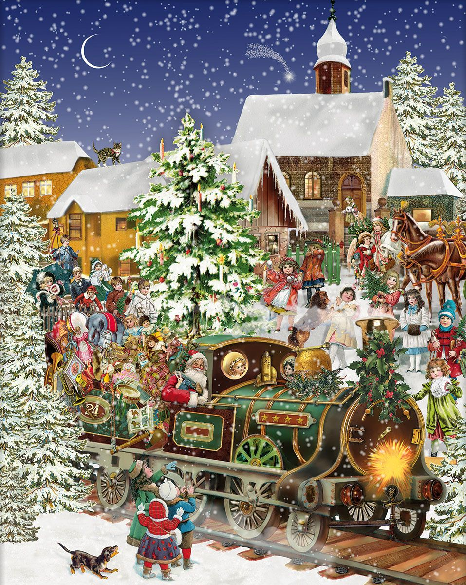 Christmas Train | happy Christmas | Pinterest | Christmas, Vintage ...